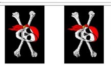 PIRATE WITH BANDANA BUNTING - 9 METRES 30 FLAGS